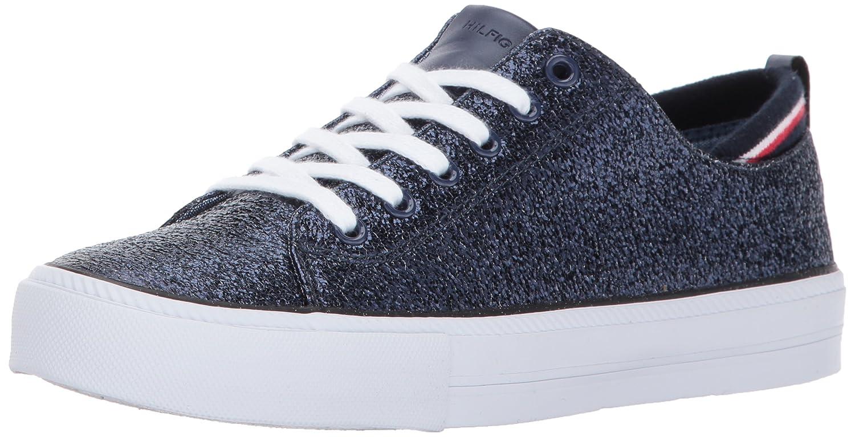 Tommy Hilfiger Women's Two Sneaker B01MT84IPM 5 B(M) US|Blue Sparkle