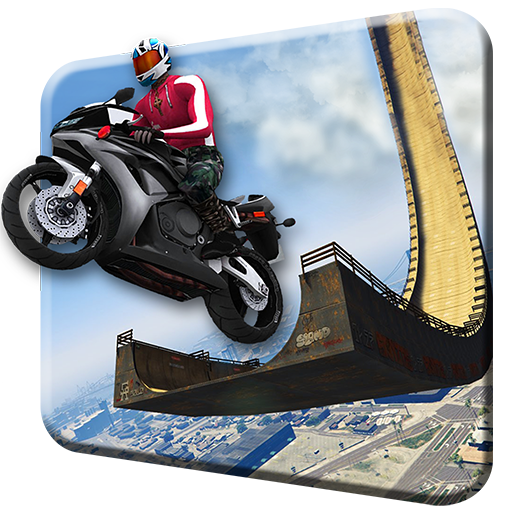 Impossible Mega Ramp Moto Super Bike Racing: Superhero 3D Free