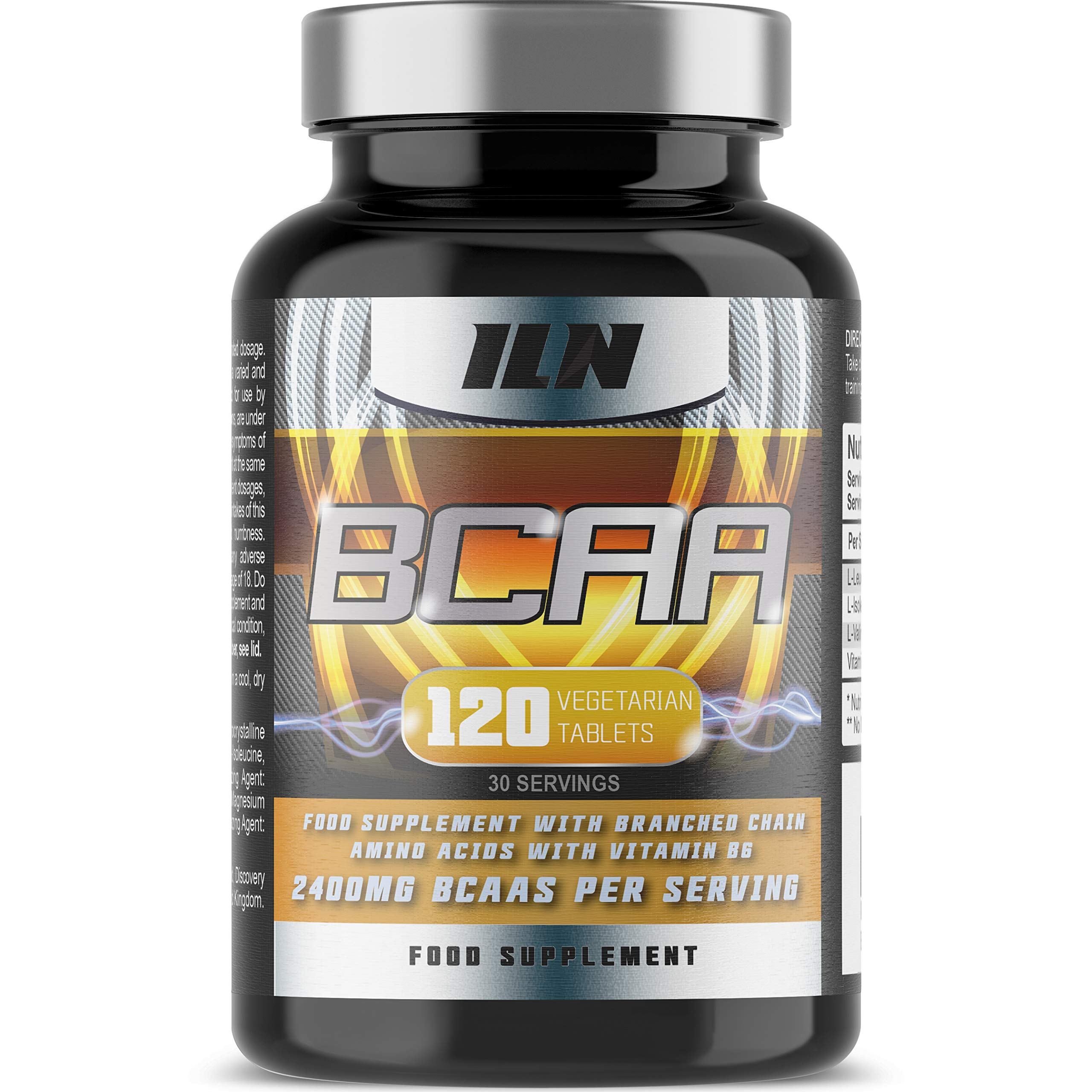 Iron Labs Nutrition, BCAA - 2400mg BCAAs per Serving x 30 Servings - 120 Tablets
