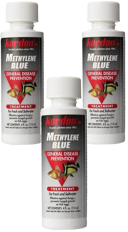 Kordon Metileno Blue-General Tratamiento Prevención de Enfermedades para Acuario, 4-Ounce (3 Pack): Amazon.es: Productos para mascotas