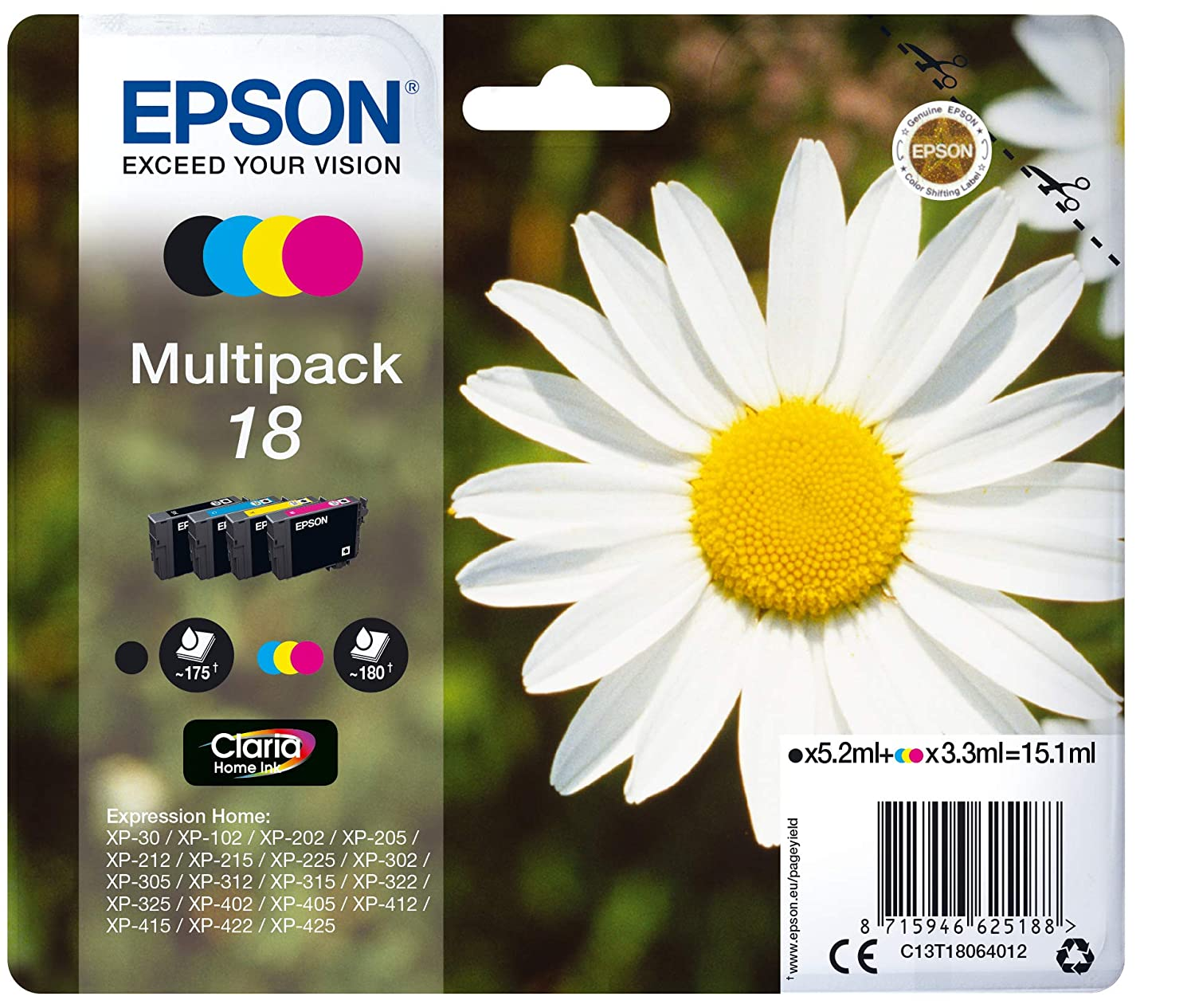 Multipack 18 4 colores (etiqueta RF): Amazon.es: Informática