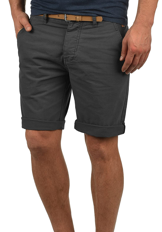 TALLA XL. Redefined Rebel Mumbai Chino Pantalón Corto Bermuda Pantalones De Tela para Hombre con Cinturón De 100% algodón Regular-Fit