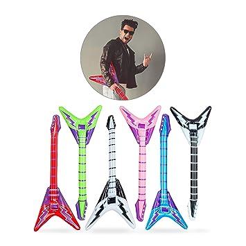 Relaxdays- Guitarra Hinchable Eléctrica, Multicolor, 95 cm ...