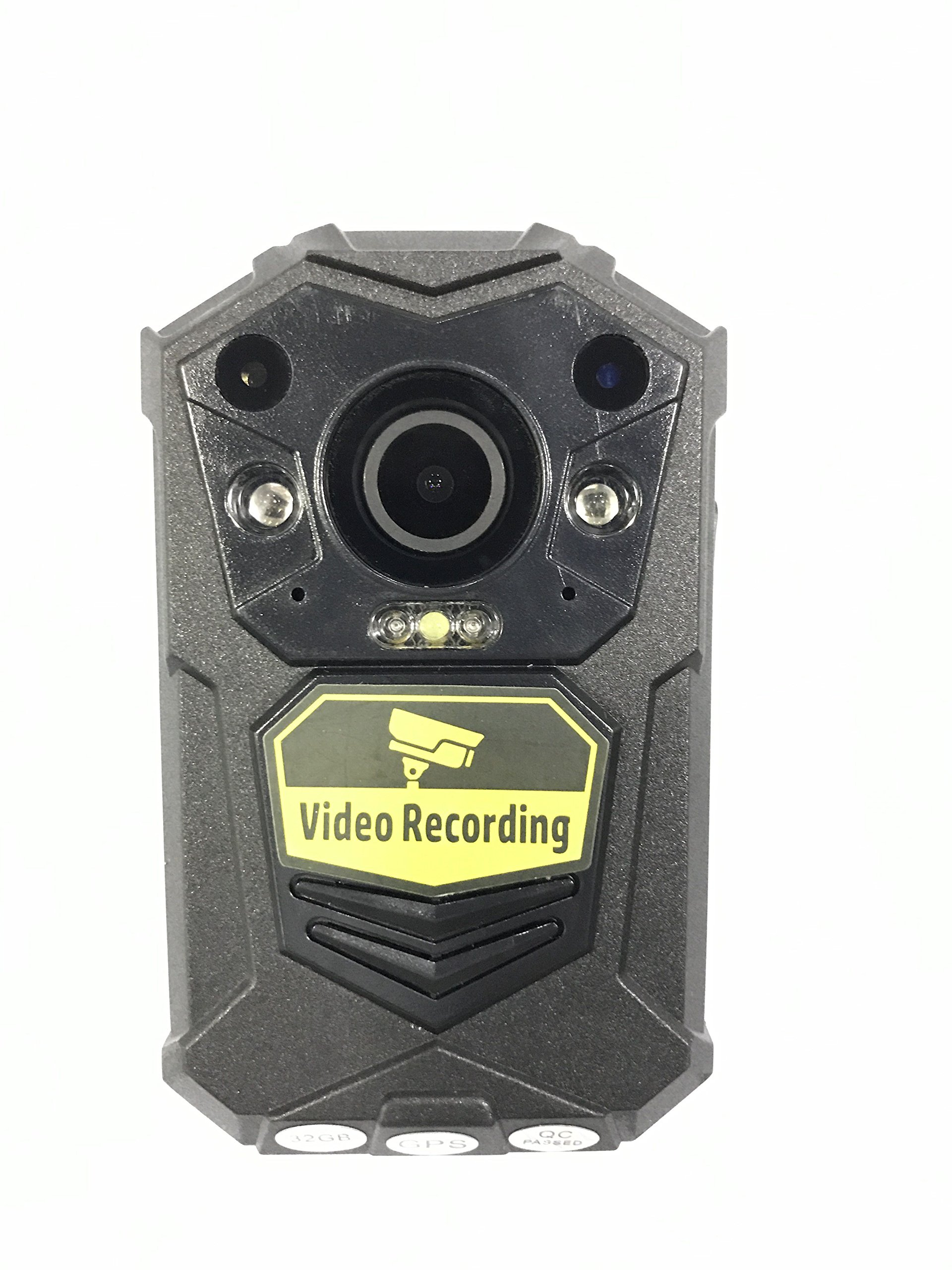 BODY CAMERA - FULL HD 1296p @30fps & 64MP Camera with a 140 Degree Wide Angle Lens + Night Vision & GPS / Comes with built in 64GB Memory Card by Timeworker