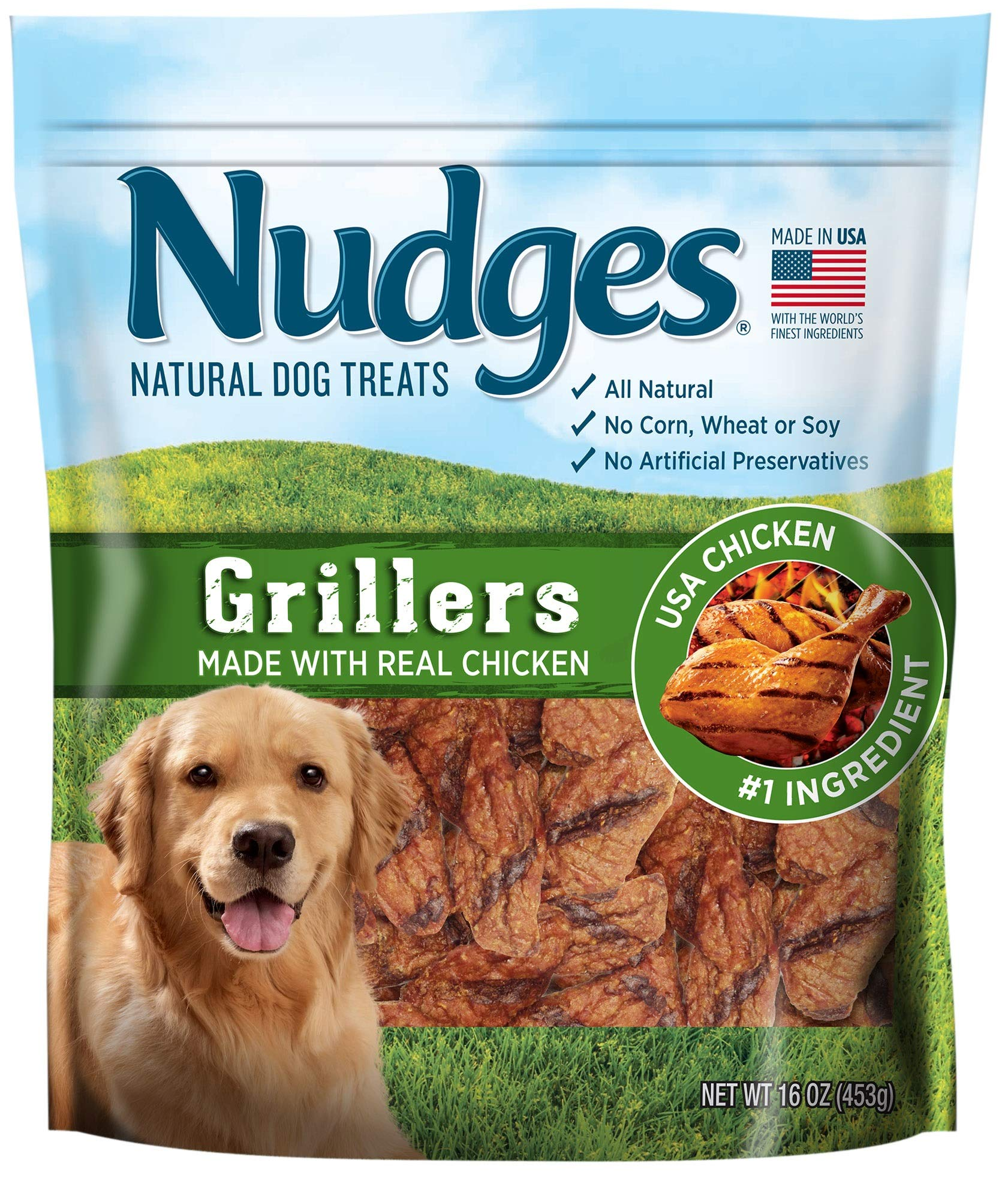 Nudges Natural Dog Treats Grillers Made with Real Chicken