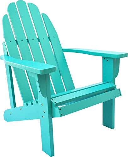 Shine Company 4613AQ Catalina Adirondack Chair, Aqua