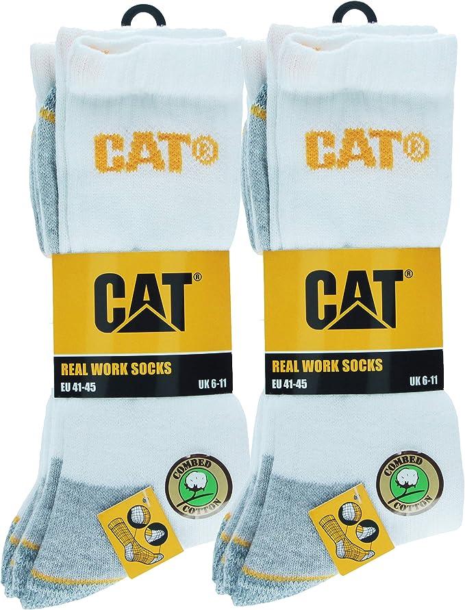 6 Pares Calcetines CAT CATPERILLAR de trabajo para hombres ...