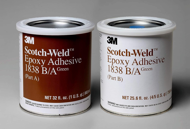 3M Scotch-Weld Epoxy Adhesive 1838, Green, Part B/A , 1 Quart Kit
