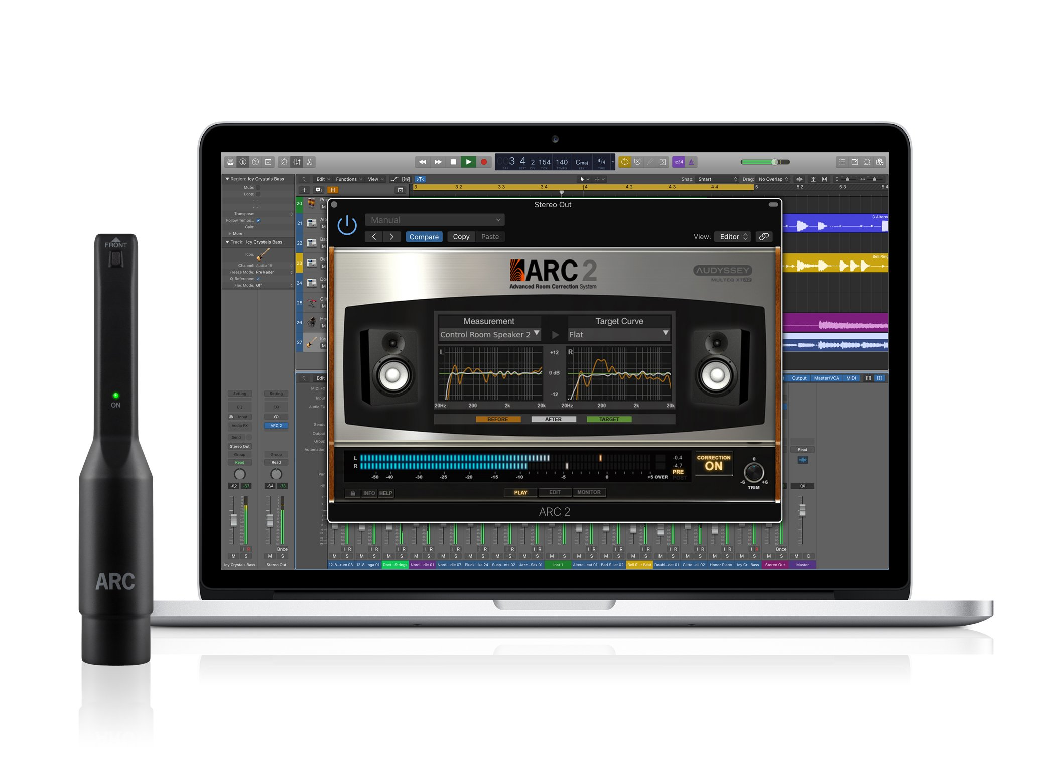 IK Multimedia ARC System 2.5 advanced digital room correction system for Mac/PC with included MEMS measurement microphone by IK Multimedia
