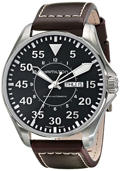 Hamilton Khaki Aviation Pilot Auto - Reloj (Reloj de Pulsera, Masculino, Acero Inoxidable