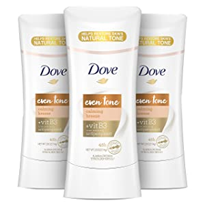 Dove Even Tone Antiperspirant Deodorant for Uneven Skin Tone Calming Breeze Sweat Block for All-Day Fresh Feeling 2.6 oz 3 Count