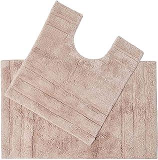 Homescapes Spa Supreme - Juego de alfombras para baño (1800 gsm, extra suave, algodón, 2 unidades, 50 x 80 cm y…