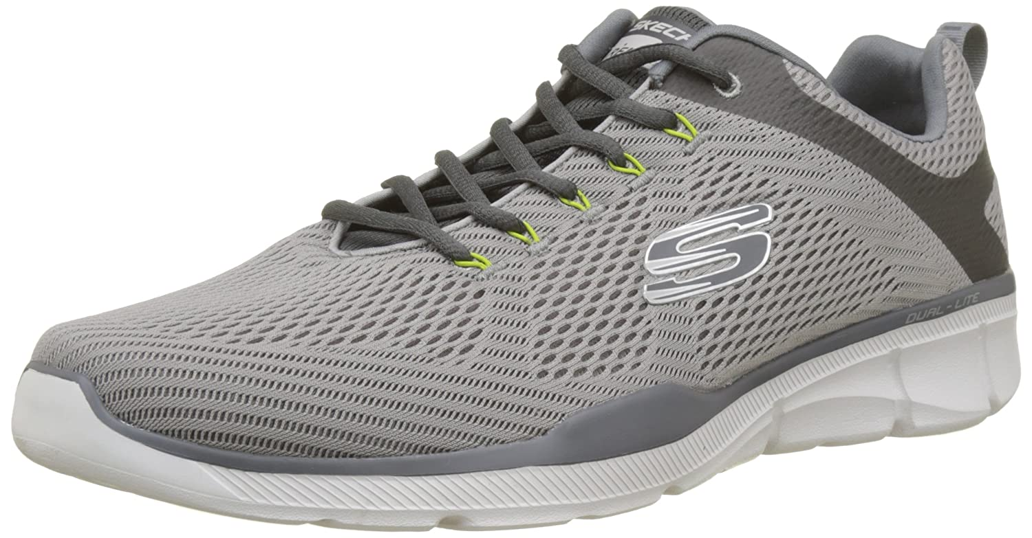 Skechers Men's Relaxed Fit Equalizer 3-0 Cross Training Shoes Grey/Charcoal B07CTSY66F 9.5 D(M) US Grey/Charcoal
