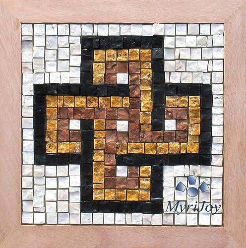 mosaic craft kit easy solomon s knot italian marble mosaic tiles