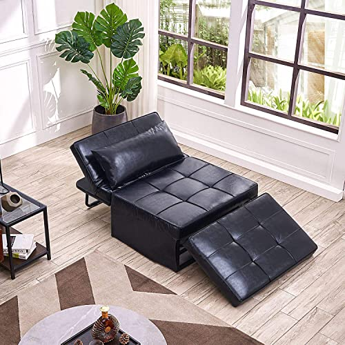 Vonanda Leather Ottoman Sofa Bed - the best living room sofa for the money