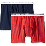 Calvin Klein Boy's Modern Cotton Assorted Boxer Briefs Underwear, Multipack - Multi