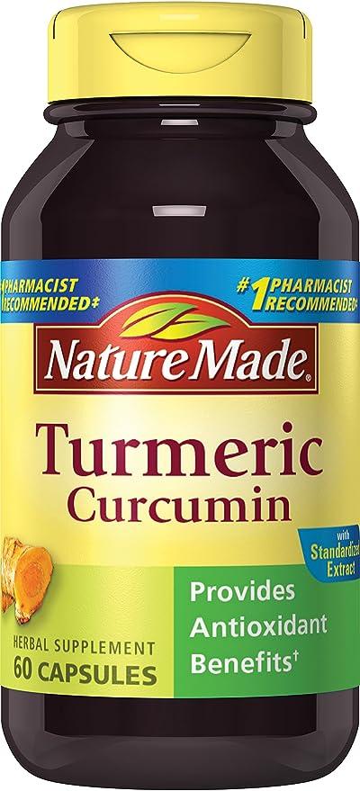 Nature Made - Curcumin de la cúrcuma - 60 cápsulas