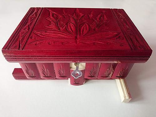 Nueva especial Rojo hermosa caja mágica, misteriosa caja, caja ...