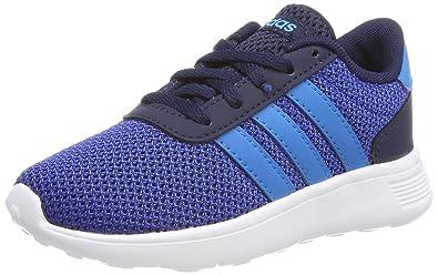 adidas Lite Racer Kids Boys Sports Trainer Shoe Blue/Navy - US 6