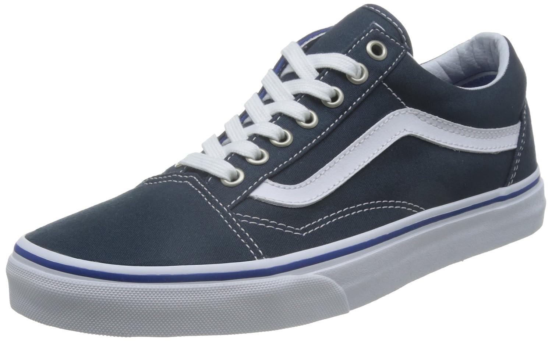 Vans Unisex Old Skool Classic Skate Shoes B019JBPXCA 11.5 M US Women / 10 M US Men Midnight Navy White