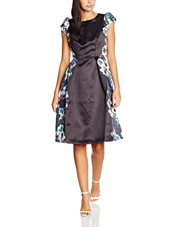 Womens Rose Edge Print Midi Length Prom Dress Wolf & Whistle IYpejk