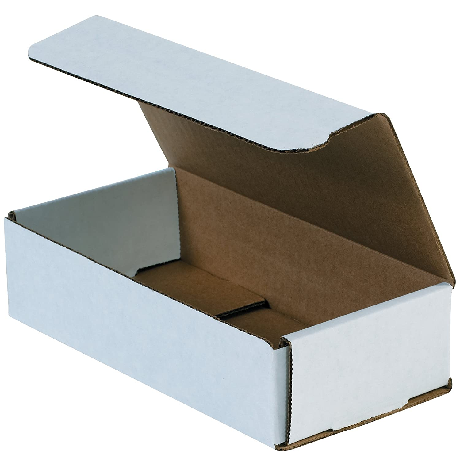 Aviditi White Corrugated Cardboard Mailing Boxes, 9 x 4 x 3 Inches, Pack of 50, Crush-Proof, for Shipping, Mailing and Storing