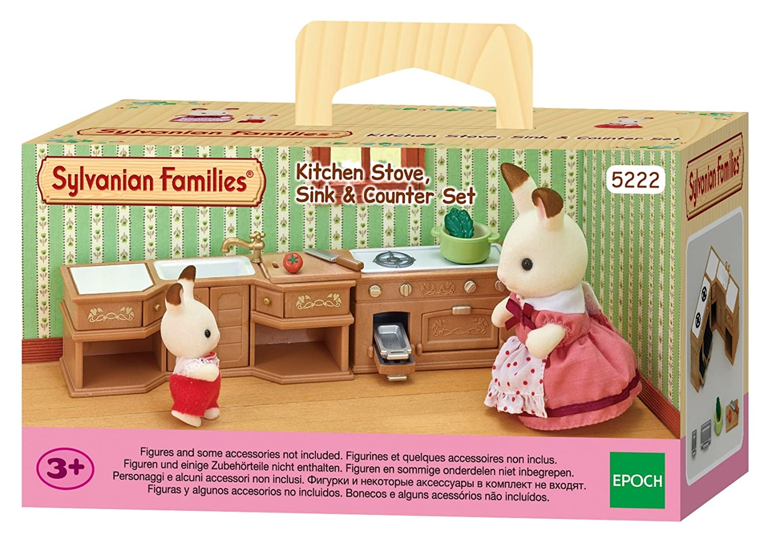 Sylvanian Families Stove Sink And Counter Kitchen Set Amazoncouk Toys Games