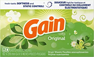 Gain Dryer Sheets, Original, 80 Count, (Pack of 3)