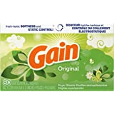Gain Dryer Sheets, Original, 80 count, (Pack of 3)