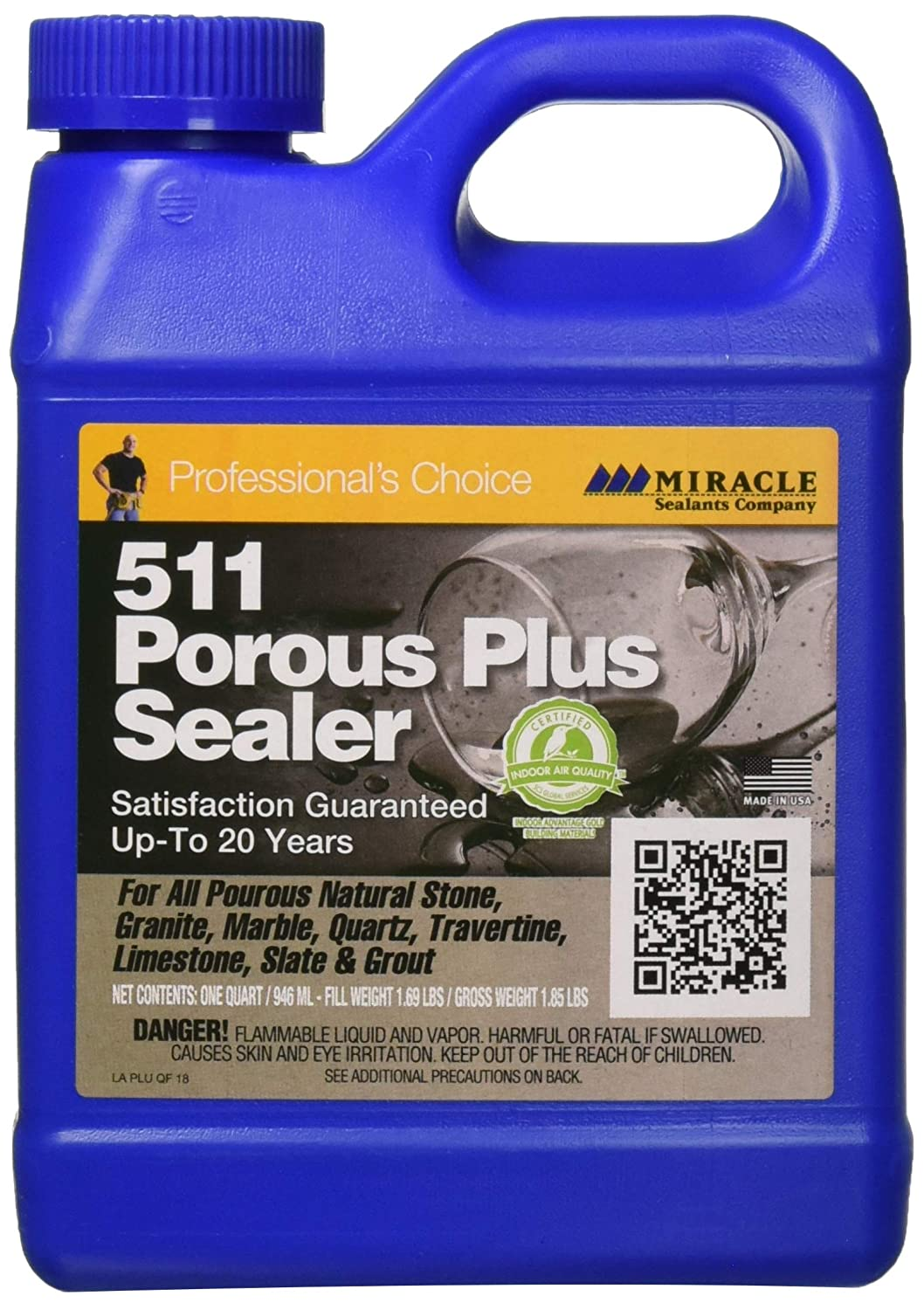 9.Miracle Sealants Plus QT SG 511 Porous Plus Penetrating Sealer