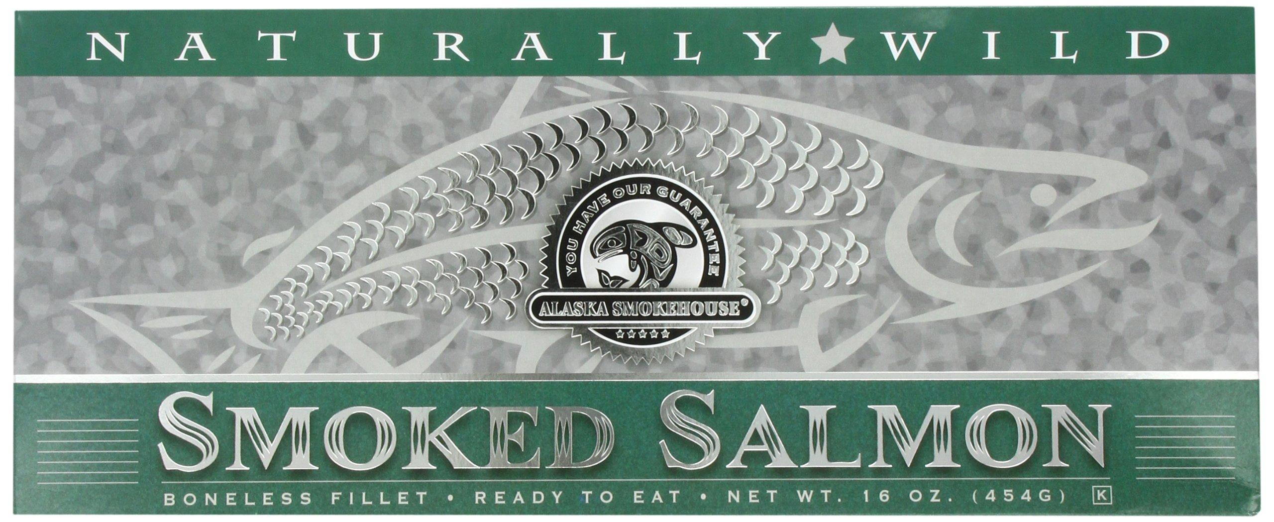 Alaska Smokehouse Smoked Salmon Fillet In Green, 16 Ounce Gift Box by Alaska Smokehouse
