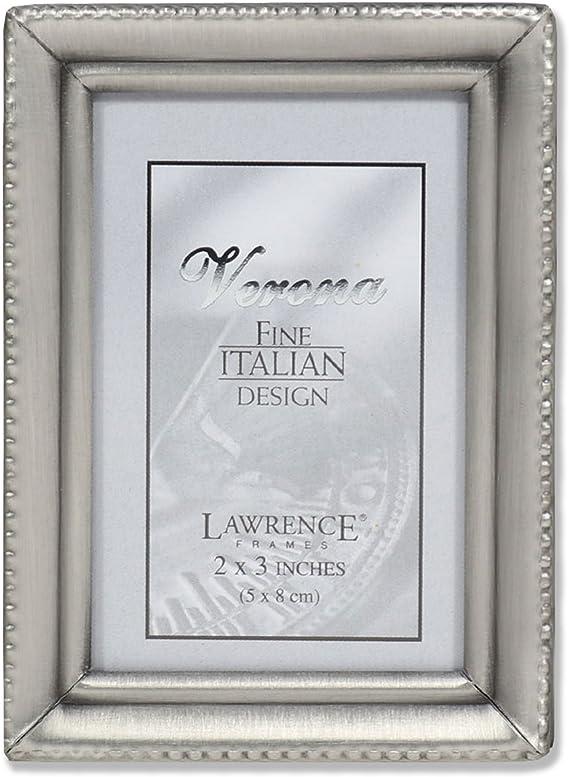Lawrence Frames Antique Pewter 2x3 Picture Frame Beaded Edge Design Single Frames