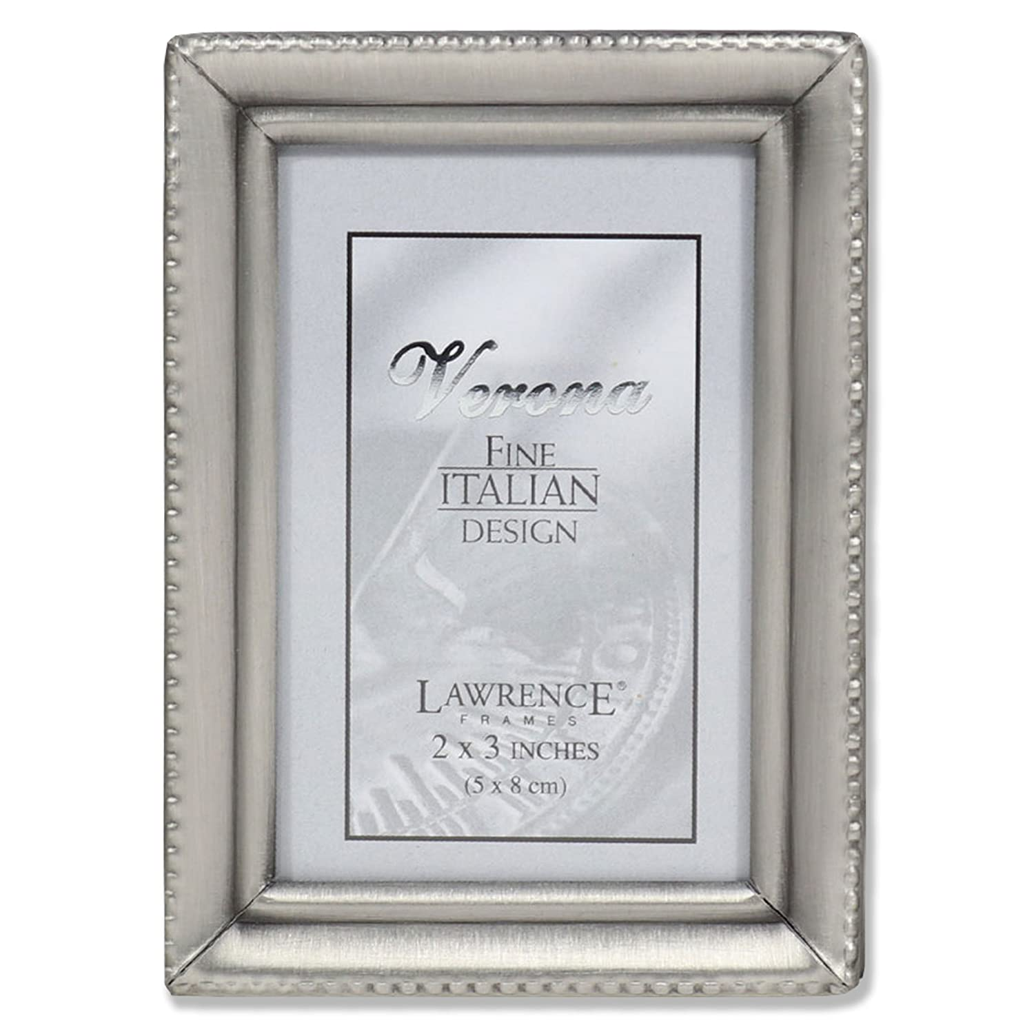 Amazoncom Lawrence Frames Antique Pewter 2x3 Picture Frame