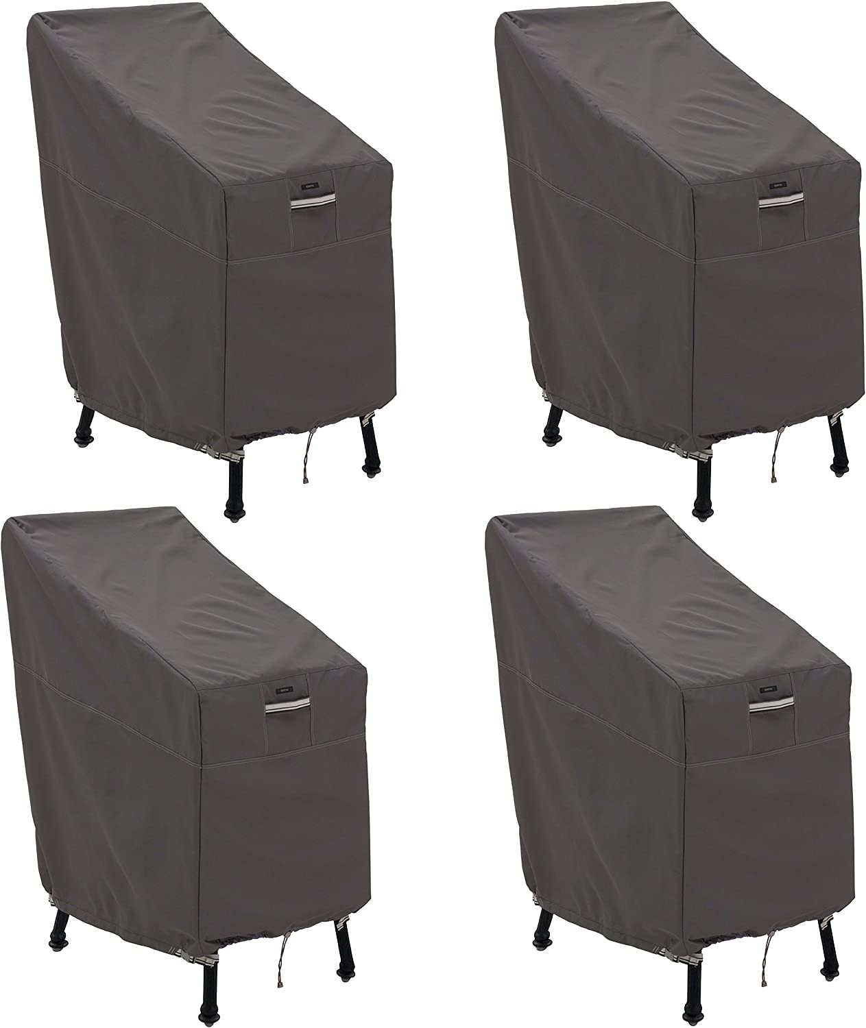 Classic Accessories Ravenna Patio Bar Chair/Stool Cover, 4-Pack
