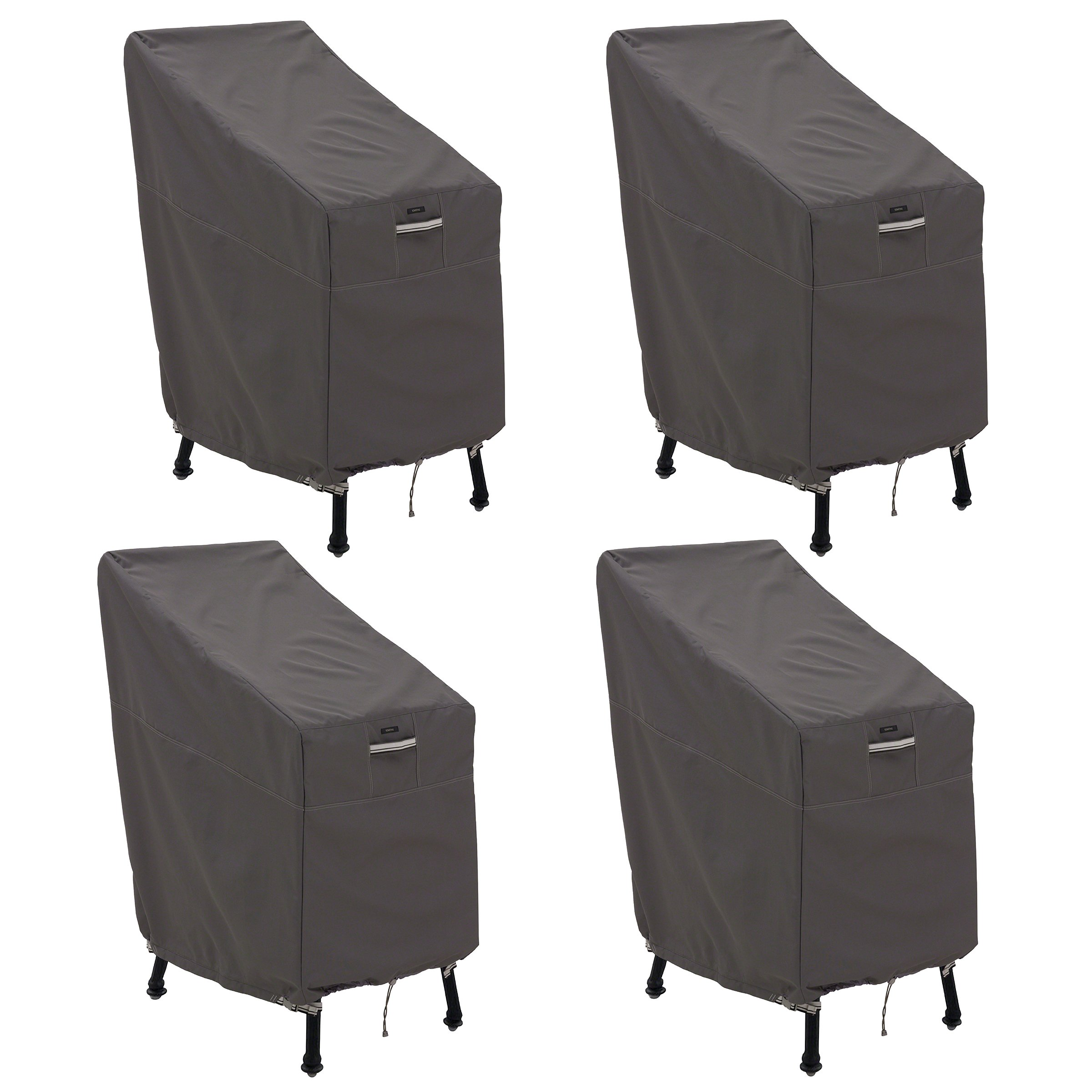 Classic Accessories 55-920-015103-4PK Ravenna Patio Bar Chair/Stool Cover, 4-Pack