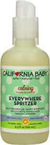 California Baby Calming Aromatherapy Spritzer Pillow and Bed Spray | 100% Plant Based | Overtired and Cranky Calming Sleep Formula | French Lavender and Clary Sage Essential Oils | (6.5oz)