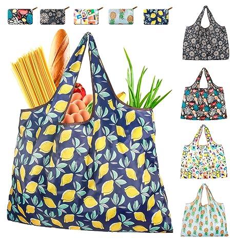 Amazon.com: LAZYERA Bolsas de compras reutilizables para ...
