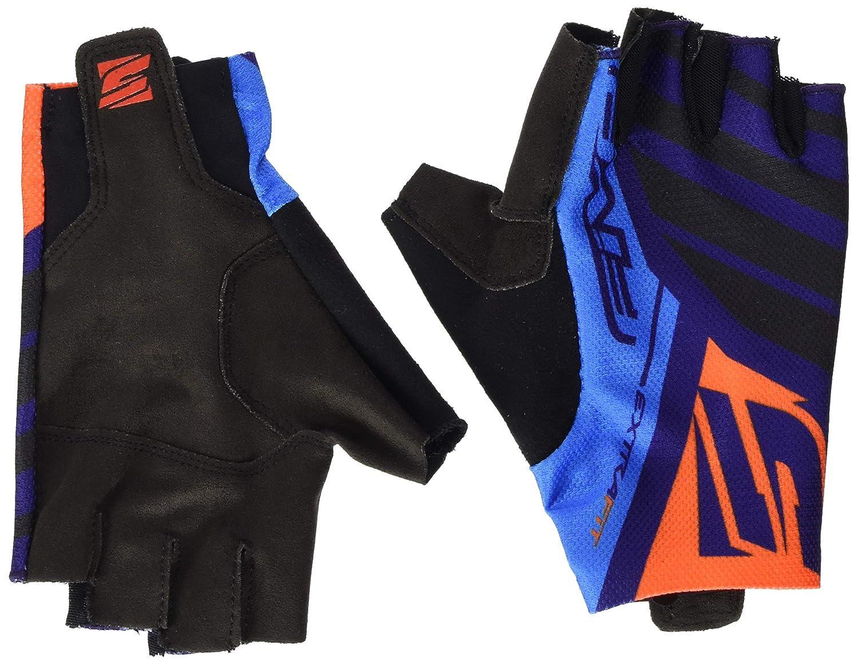 FIVE rc 15 Gants de vélo Adulte Unisexe, Noir/Bleu Marine/Orange, M