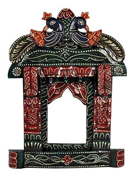 Amazoncom Lalhaveli Wooden Photo Frame Indian Jharokha 17 X 12