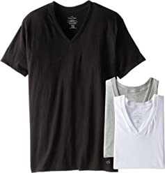 Calvin Klein Mens Cotton Classics Short Sleeve V-Neck T-Shirt