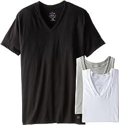 Calvin Klein Mens Cotton Classics Short Sleeve V-Neck T-Shirt