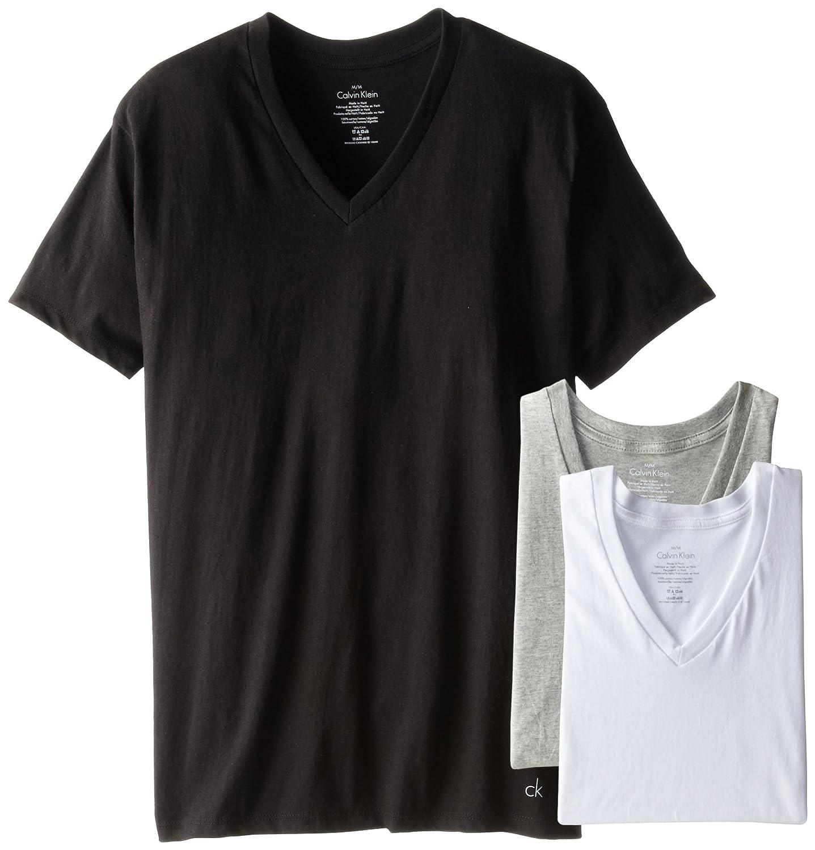 Calvin Klein da uomo Undershirts Cotton Classics 3 Pack V Neck Tshirts  Maglietta intima Calvin Klein Men' s Underwear M4065