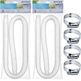 "SEWANTA Replacement Hose for Above Ground Pools [Set of 2] 1.25"" Diameter Accessory Pool Pump Replacement Hose 59"" Long…"