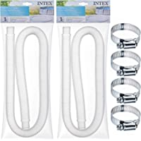 SEWANTA Replacement Hose for Above Ground Pools [Set of 2] 1.25″ Diameter Accessory Pool Pump Replacement Hose 59€ Long - Filter Pump Hose for Intex Pump Models #607#637. Bundled with 4 Metal Clamps