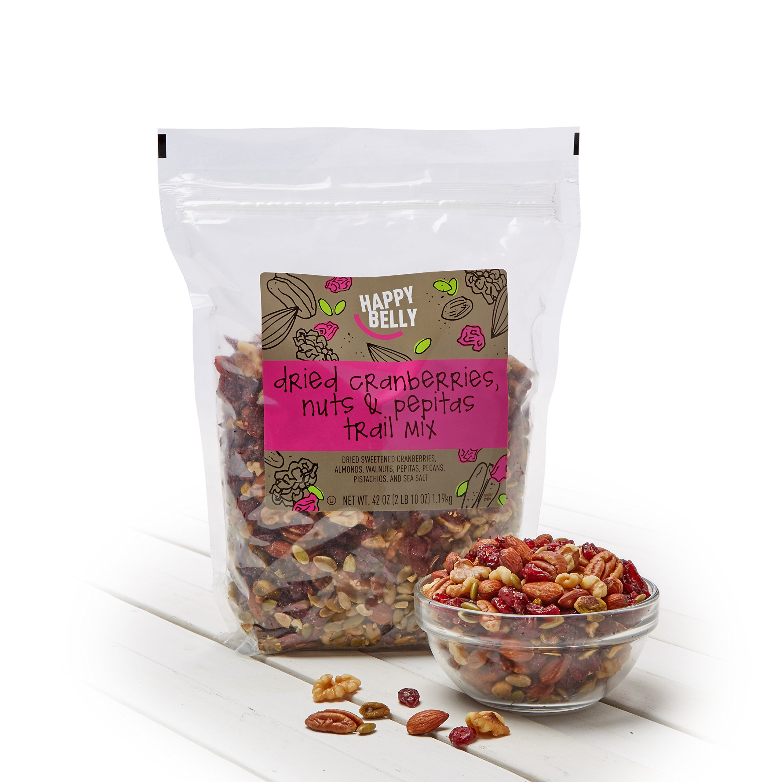 Amazon Brand - Happy Belly Dried Cranberries, Nuts & Pepitas Trail Mix, 42 ounce by Happy Belly (Image #2)