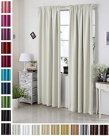 Schwerer Vorhang amazon de woltu 330 vorhang gardinen blickdicht mit kräuselband