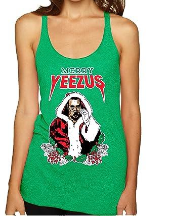 wild bobby merry yeezus kanye santa west womens ugly christmas sweater premium tri
