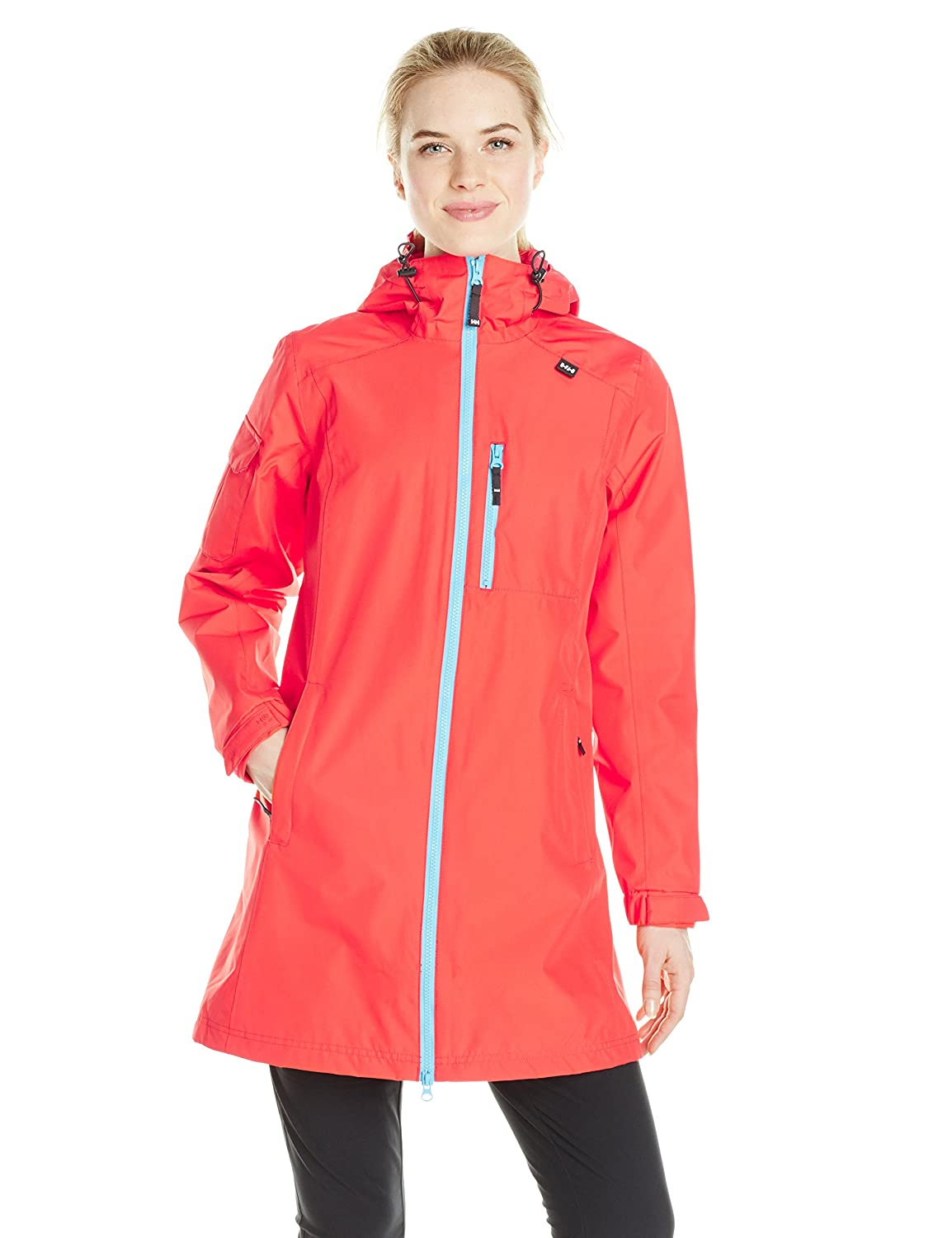 Summer Red S Helly Hansen Women's W Long Belfast Rain Jacket