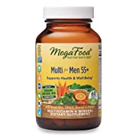 MegaFood, Multi for Men 55+, Supports Optimal Health and Wellbeing, Multivitamin and Mineral Supplement, Gluten Free, Vegetarian, 60 Tablets (30 Servings) (FFP)