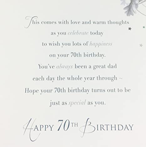 Dad 70th Birthday Card Large Greeting For Age 70 Quality Amazoncouk Office Products
